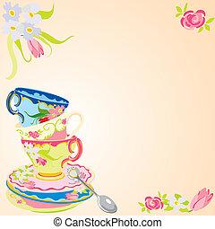partido chá, convite