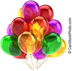 partido, clássicas, balões, multicolored