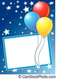 partido, fundo, balões