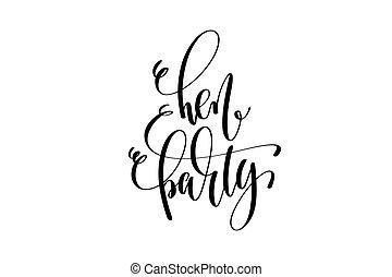 partido galinha, mão, lettering, evento, convite, inscrição
