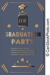 partido, graduação, anúncio