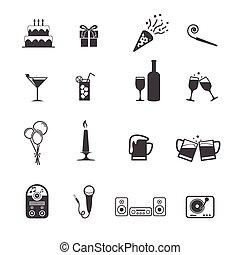 partido, jogo, ícones
