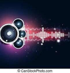 partido, música, fundo