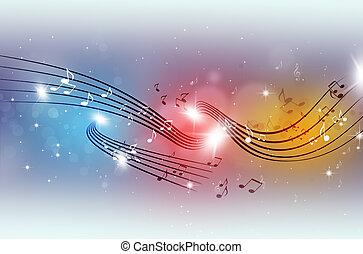 partido, multicolor, notas música