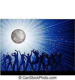 partido, pessoas, fundo, discoteca