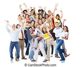 partido., pessoas., grupo, natal, feliz