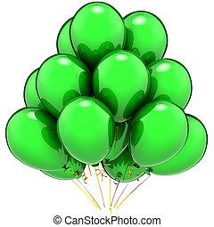 partido, total, balões, verde