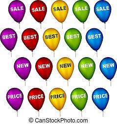 partido, vetorial, balões, venda