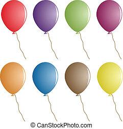 partido, vetorial, balões