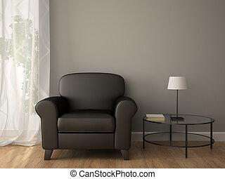 partie, intérieur, à, fauteuil