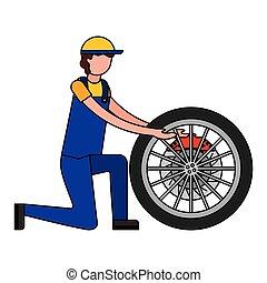 partie moteur, frein, disque, mécanicien