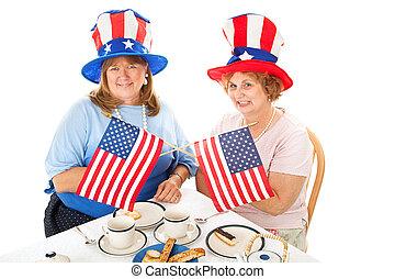 partie thé, patriotes