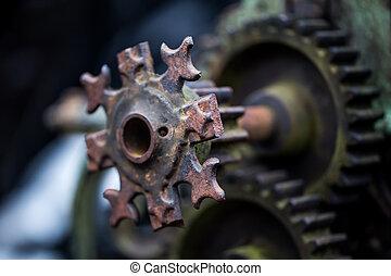 parties, vieux, mécanique