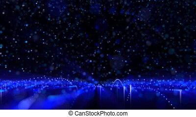 partikel, regen
