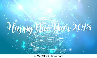 partikeln, explodieren, 2018, hintergrund, jahr, neu , glücklich