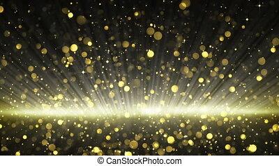 partikeln, glitzer, gold, schleife