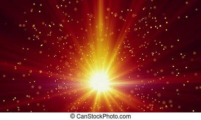 partikeln, licht, hintergrund, gold, schleife