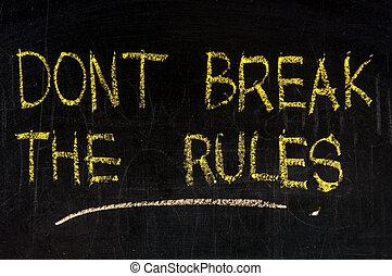 partir, regras, dont