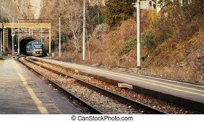 partir, train, tunnel.