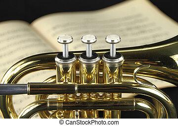 partition, trompette