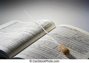 partiture, hudba