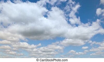 Partly Cloudy Fast Motion Clouds Time Lapse Loop - Looping...
