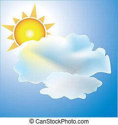 Partly Cloudy with Sun weather icon - Weather icon partly...