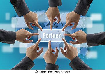 partner, begriff, geschaeftswelt