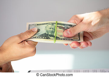 partner, boeiend, businessperson, steekpenning