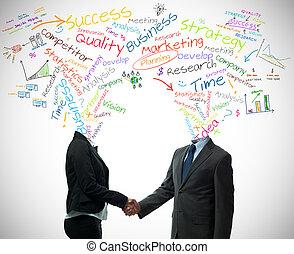partner, concept, zakelijk