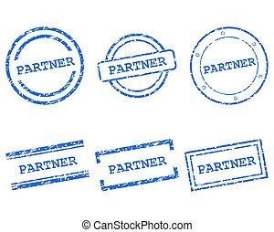 partner, frimærker