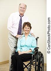 Partner, Rollstuhl,  -, Geschaeftswelt