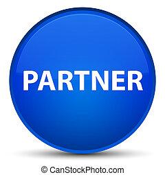 Partner special blue round button