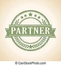 Partner stamp - Partner vector stamp