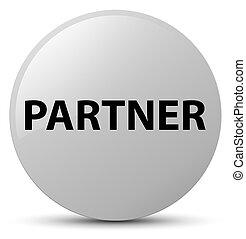 Partner white round button