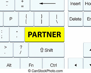 Partner yellow keyboard button