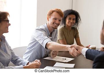 partners, рукопожатие, знакомый, бизнес, получить, встреча