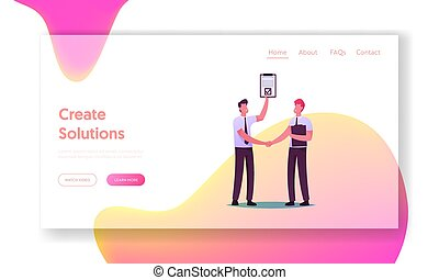 Partners and Partnership Landing Page Template. .Business ...