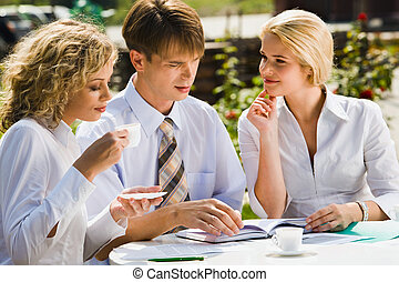 Partners at meeting