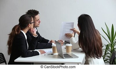 partners, consulting, бизнес, explaining, clients, контракт,...