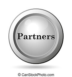 Partners icon. Internet button on white background.