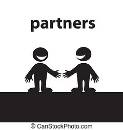 partners - Partners. Business handshake. Conceptual vector...
