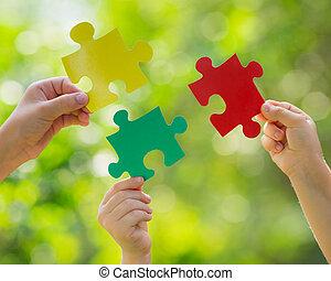 partnerschaft, gemeinschaftsarbeit