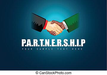 partnerschaft, geschaeftswelt