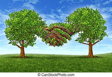 Partnerschaft, Wachstum, Geschaeftswelt, erfolg