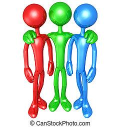 Partnership - 3D Concept And Presentation Figure