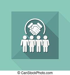 Partnership agreement - Vector flat icon