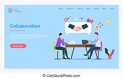 Partnership and Teamwork Collaboration Vector