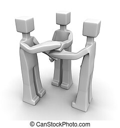 Partnership and teamwork concept 3d illustration