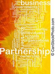 Partnership background concept
